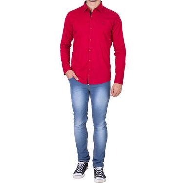 Branded Full Sleeves Cotton Shirt_R218kred - Red