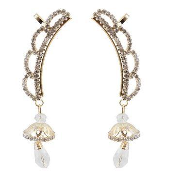 Kriaa Austrian Stone Jhumki Style Drop Ear Cuff_1303002