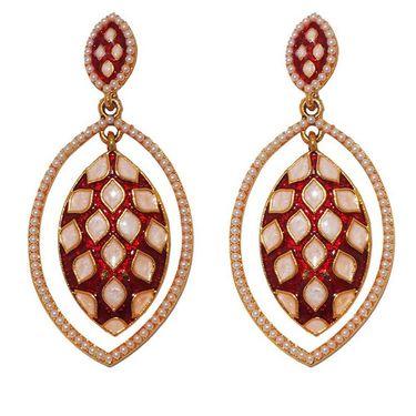 Kriaa Pearl Meenakari Earrings _1303101