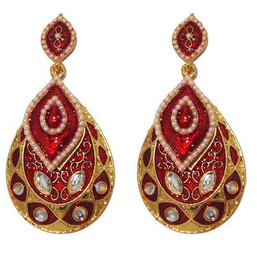 Kriaa Kundan Meenakari Earrings _1303124