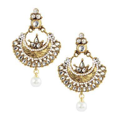 Kriaa Kundan Drop Earrings _1303717