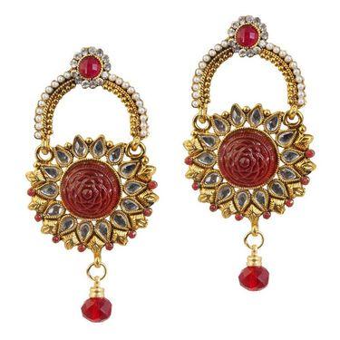 Kriaa Kundan Pearl Earrings _1303776