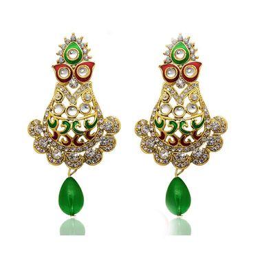 Kriaa Austrian Stone Meenakari Drop Earrings _1304504
