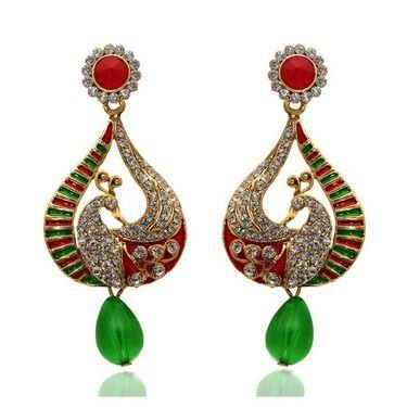 Kriaa Austrian Diamond Peacock Drop Earrings    _1304813