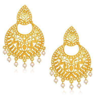 Kriaa Pearl Dangle Finish Earrings _1305430