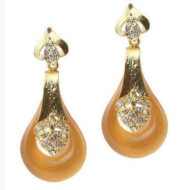 Kriaa Austrian Stone Resin Finish Earrings _1305736