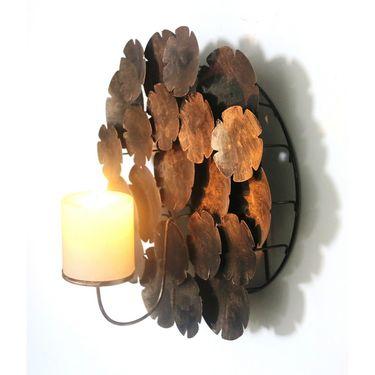 Wall Candle pillar holder - bronze1405-1523
