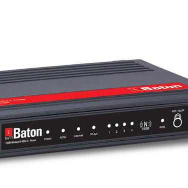 iBall iB-WRA150N Baton 150M Wireless-N ADSL2+ Router - Black