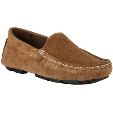 Delize Suede Leather Loafers 1751-Tan