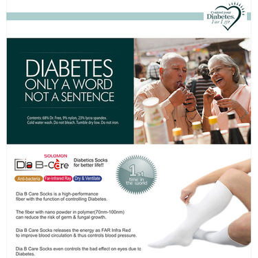 Solomon Pack of Dia B Care Diabetic Socks - Large