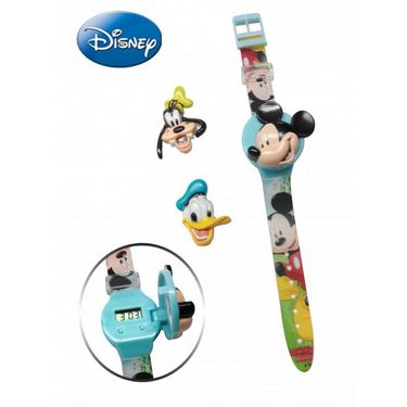 Disney Mickey and Friends Watch - Interchangeable Flip Top Covers - Sky Blue Cover