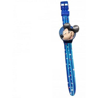 Disney Mickey and Friends Watch - Interchangeable Flip Top Covers - Blue Cover
