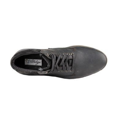 Delize Synthetic Leather Casual Shoes 25231-Black