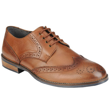 Delize Leather Formal Shoes 27073-Tan