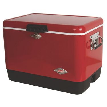 Coleman (54 Qt) 50.76 Ltr Steel Belted Cooler Red