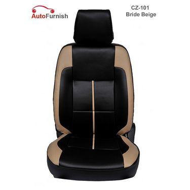 Autofurnish (CZ-101 Bride Beige) Honda Jazz Leatherite Car Seat Covers-3001084