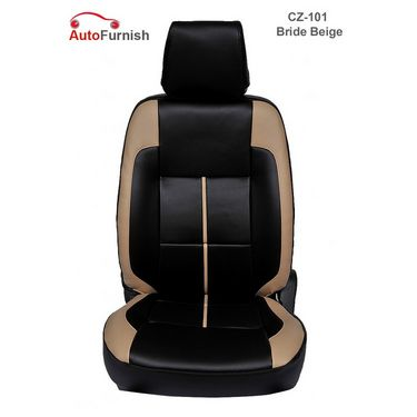 Autofurnish (CZ-101 Bride Beige) Toyota Fortuner Leatherite Car Seat Covers-3001236