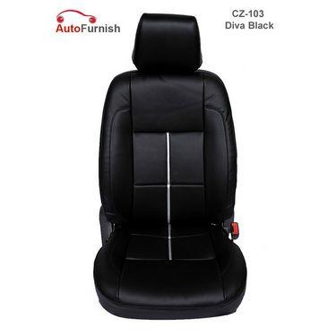 Autofurnish (CZ-103 Diva Black) Honda City 2005-08 Leatherite Car Seat Covers-3001531