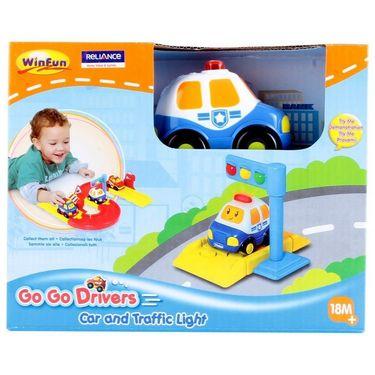 Winfun Police Car & Traffic Light1210-01