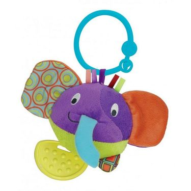 Winfun Round Timber the Elephant Hand Rattle Multi Color