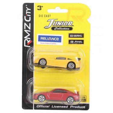 RMZ Die Cast Chevrolet Corvette C6 R & Nissan GT R Car Toys Yellow & Red - Pack Of 2 ( 4895065058389)