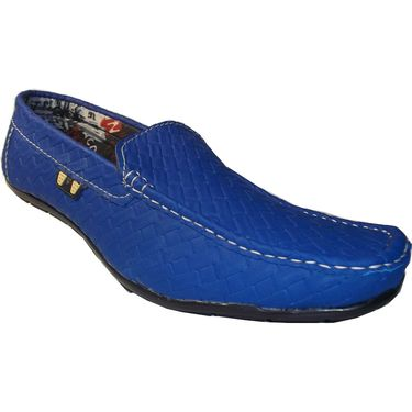 Branded Blue Loafer Shoes - 3335H
