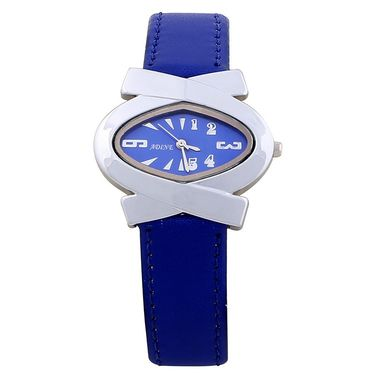 Adine Round Dial Analog Wrist Watch For Women_39bb012 - Blue
