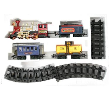 Classic Steam Engine Train Toy With Tracks - Red