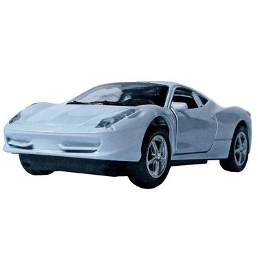 1:32 Scale White Die-Cast Collectible Pullback Ferrari Sports  Toy Car Model