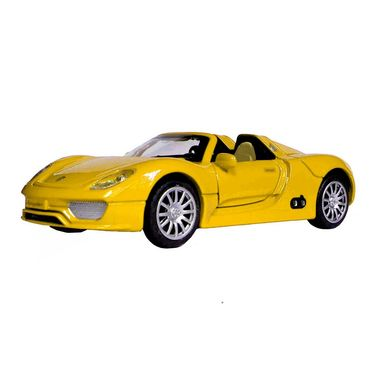 1:28 Scale Yellow Die-Cast Convertible Sports Car Toy Model