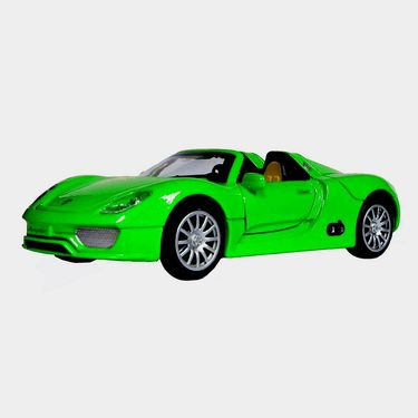 1:28 Scale Green Die-Cast Convertible Sports Car Toy Model