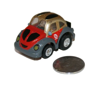 Adraxx Stunt Parkour Fly Mini RC Car Toy - Red & Golden