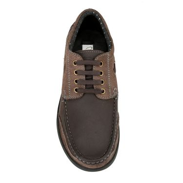 Delize Leather Formal Shoes 6061-Brown