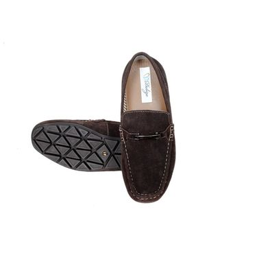 Delize Suede Leather Loafers 6453-Brown