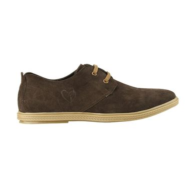 Delize Suede Leather Casual Shoes 6647-Brown