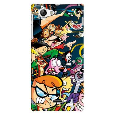 Snooky Digital Print Hard Back Case Cover For Sony Xperia J Td12775