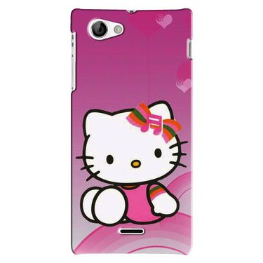 Snooky Digital Print Hard Back Case Cover For Sony Xperia J Td12779