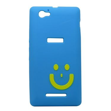Snooky Sky Smiley Back Case Cover For Sony Xperia M Td9637
