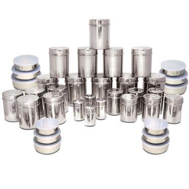 Kitchen Cooks 70 Pcs Stainless Steel Storage Set
