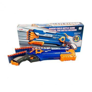 Blazing Fire 20pcs Soft Bullet Hand Gun Toy - Multicolor
