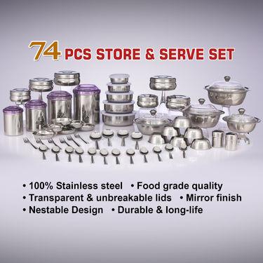74 Pcs Store & Serve Set