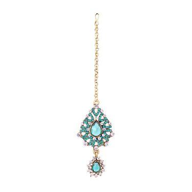 Vendee Fashion Kundan Attractive Traditional Necklace Set - Sky Blue _ 8512
