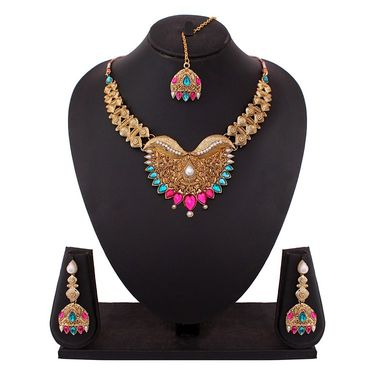 Vendee Fashion Stylish Necklace Set - Multicolor