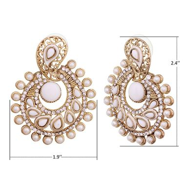 Vendee Fashion Stylish Earrings - White