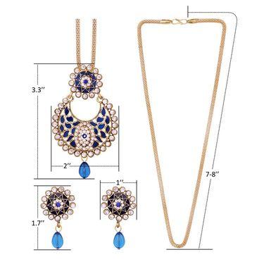 Vendee Fashion Stylish Pendant Set - Blue