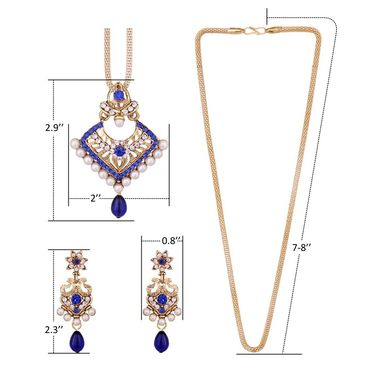 Vendee Fashion Stylish Pendant Set - Blue
