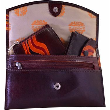 Arpera Brown Ladies Wallet Ssa06