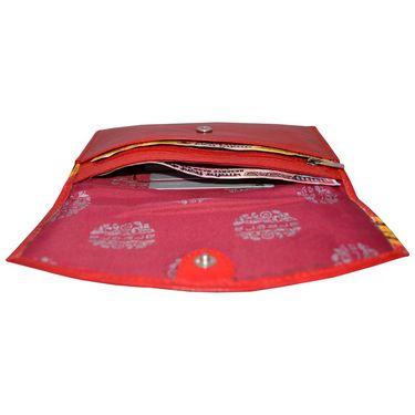 Arpera Genuine Leather Clutch 88A-3C -Red