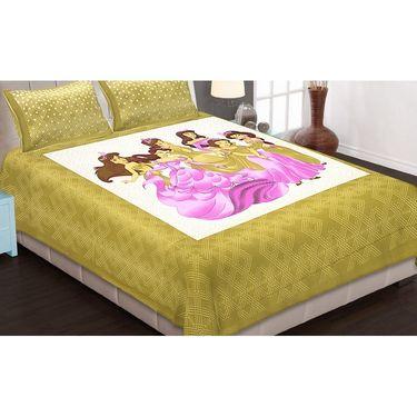 Set of 8 King Size Cotton Jaipuri Sanganeri Printed Bedsheets With 16 Pillow Covers-X108C5