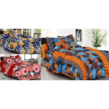 Set of 3 Double Bed Sheet with 6 Pillow covers   -906B915A45069-1
